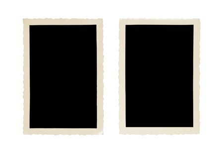 captured: old photo frame isolated on white