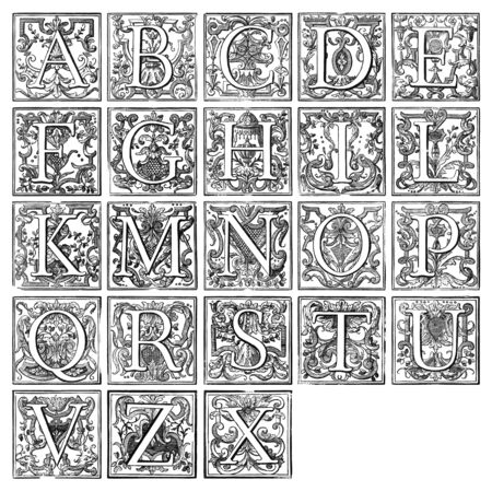 alphabet from 16th century Stock Photo - 3945886
