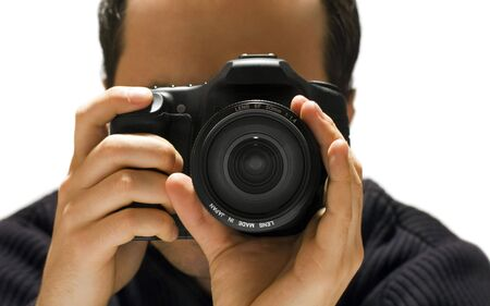 taking photograph: Photographer Stock Photo