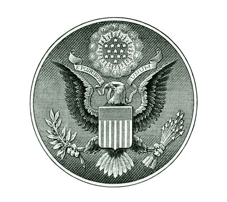 pluribus: Great Seal of the United States Stock Photo