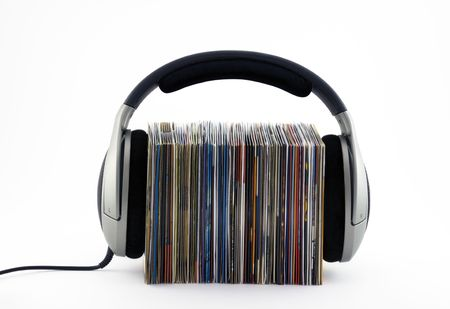 cds: Listening to music concept
