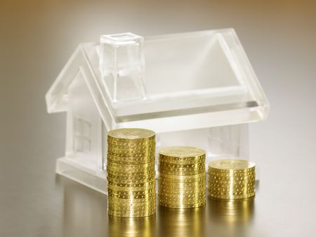 Crystal house and money