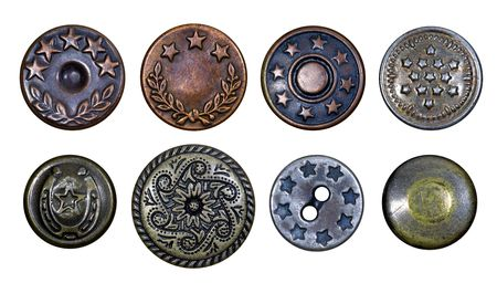 craft button: Old metal buttons with stars