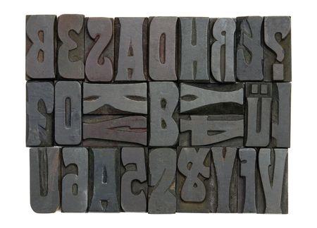 letterpress blocks: Block letters