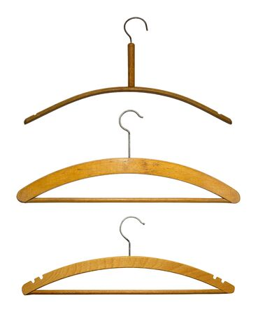 Hangers isolated on white photo