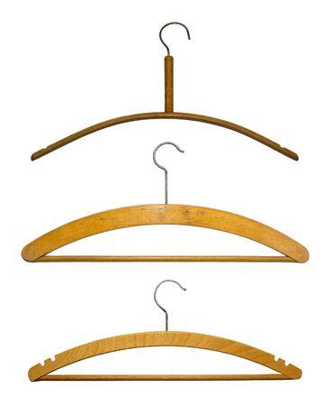 clotheshanger: Hangers isolated on white