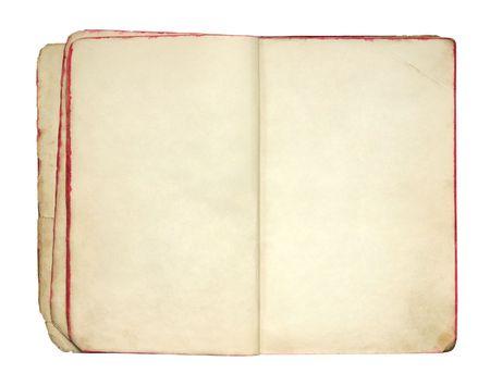 leeres buch: Offene alte leere Buch Lizenzfreie Bilder