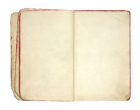 opened: Open old blank book