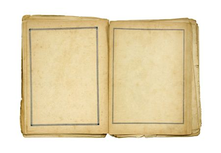 spoil: Open old blank book