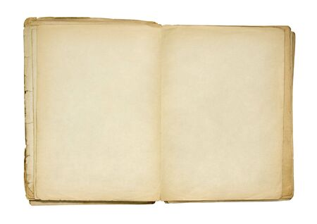 Open old blank book