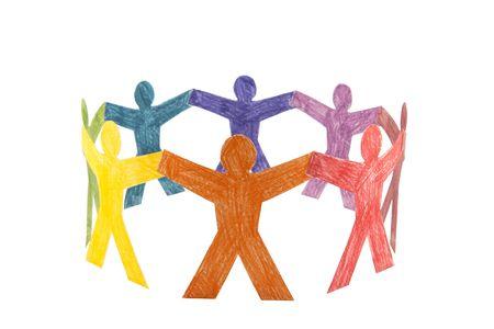 Cercle de personnes coloré