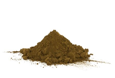 Pile of soil isolated on white photo
