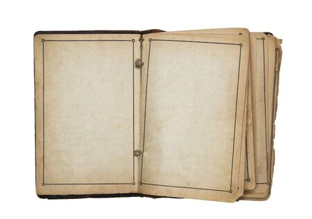 Open old blank book Stock Photo - 7801637