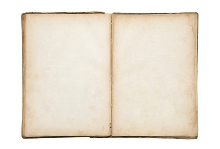 libros abiertos: Abierto viejo libro en blanco