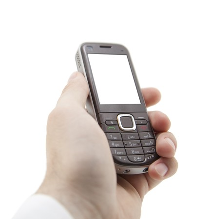 Mobile phone in hand Stock Photo - 7801584