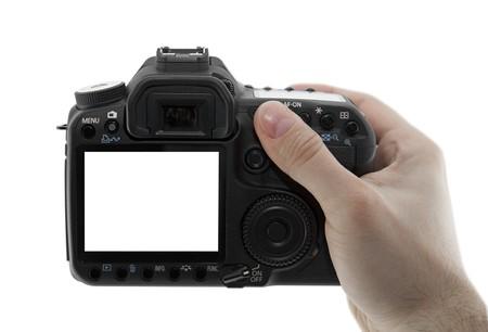 Photo camera in hand  photo