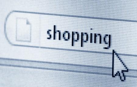 Shopping, computer screen  Stock Photo - 7962367