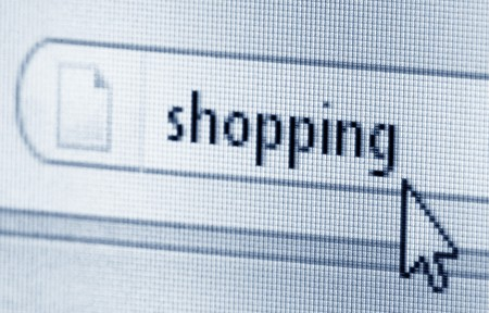 Shopping, computer screen Stock Photo - 7962367