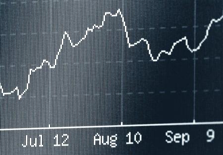 Stock chart  photo