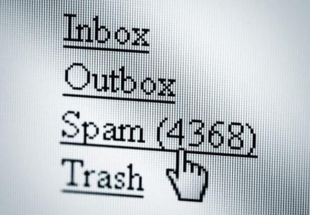 Spam, computer screen Stock Photo - 7962362