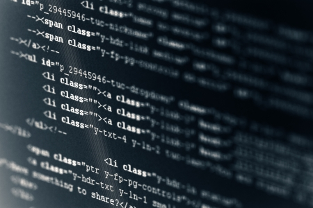 code computer: C�digo de equipo HTML Foto de archivo