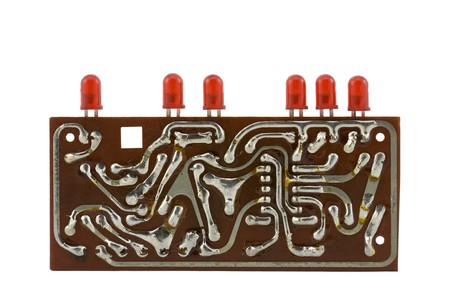 leds: Circuit board with leds.