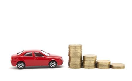 payout: Ahorro de dinero para un autom�vil  Foto de archivo