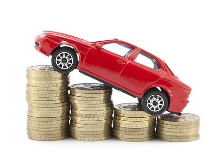 valor: Ahorro de dinero para un autom�vil  Foto de archivo