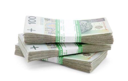 Stack of polish zloty
