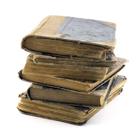 old books: Alte B�cher, isoliert auf weiss Lizenzfreie Bilder