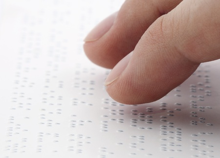 Braille reading photo