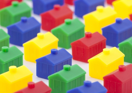 row house: Colorful toy houses