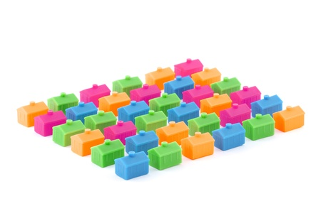 Colorful toy houses Stock Photo - 9991306
