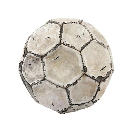dirty football: Old soccer ball  Stock Photo