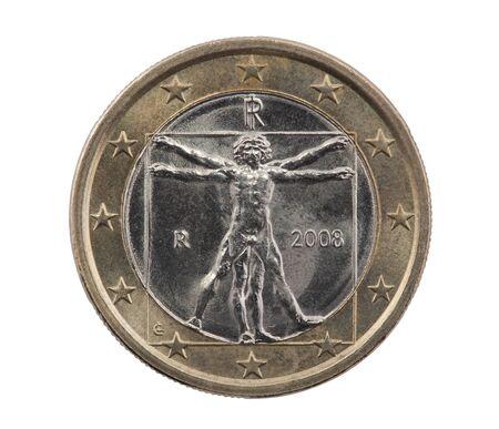 uomo vitruviano: Italian one Euro