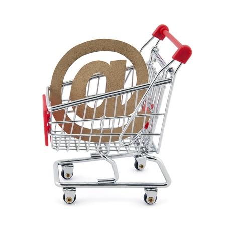 shopping buggy: Online shopping. Stock Photo