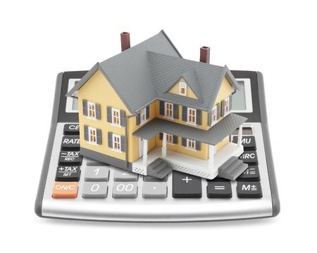 calculadora: Calculadora de hipotecas Foto de archivo