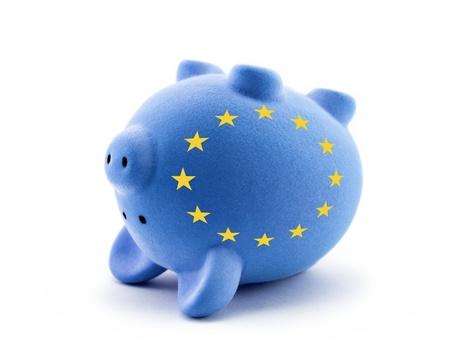 crisis economica: Crisis econ�mica europea Foto de archivo