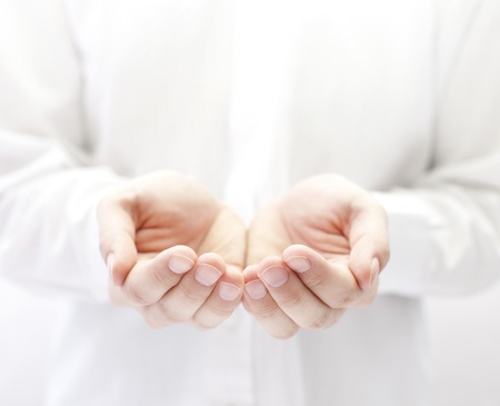 hands giving: Open hands. Holding, giving, showing concept.