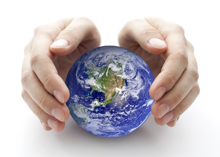 covering: Protect the Earth Stock Photo
