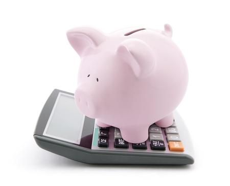 bank deposit: Calculating Savings Stock Photo