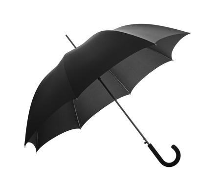 lluvia paraguas: Paraguas negro