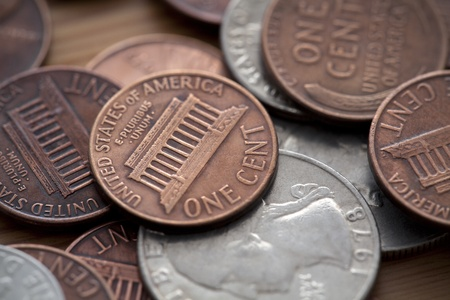 dime: American coins Stock Photo