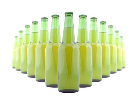 Green bottles of beer photo