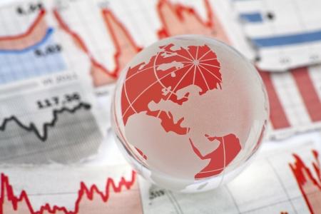 world market: Global financial crisis Stock Photo