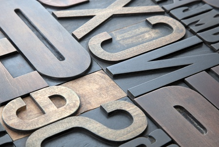 letterpress letters: Letterpress background