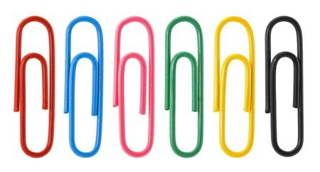 Colección de clips de papel de colores