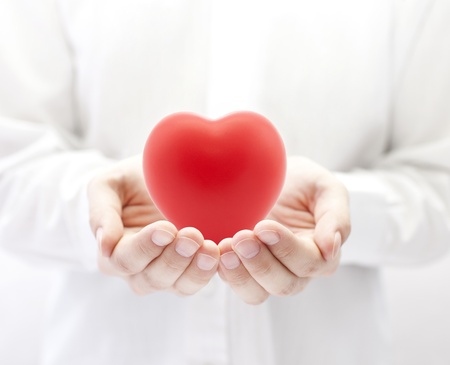 cardiac care: Health insurance or love concept Stock Photo