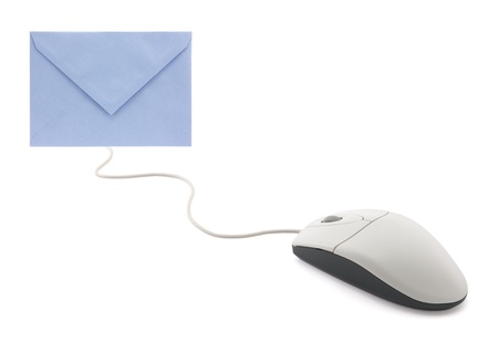 Computer mouse with envelope, concept of email photo