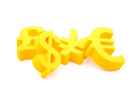 Symbols of currency photo